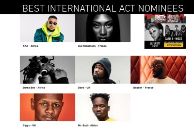 Best International Act Award category nominees.