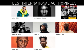 Top African Artists Up for 2018 BET Award