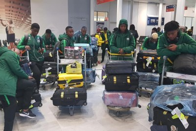 Banyana Banyana's arrival in France ahead of their maiden Fifa Women's World Cup.