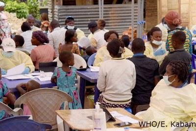 Ebola vaccination in Vighole.