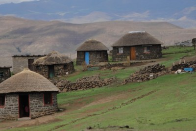 Lesotho mountain village (file photo).