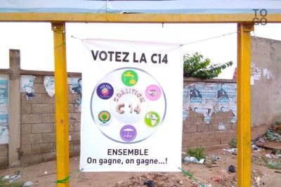 Une affiche de la coalition C14 qui ne regroupe plus que 7 partis