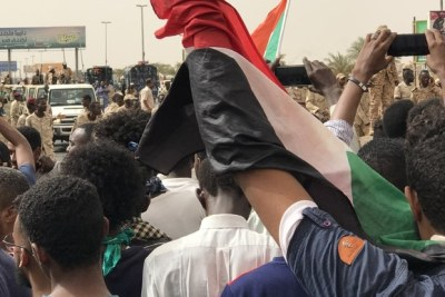 A demonstration in Khartoum in the week of July 1, 2019.