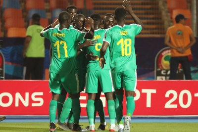 Senegal's national soccer team at the AFCON (file photo)