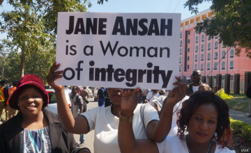 Women Come Out In Support of Malawi Elections Chief