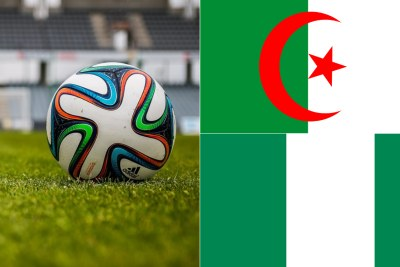 Algeria flag(top) Nigeria flag (below)