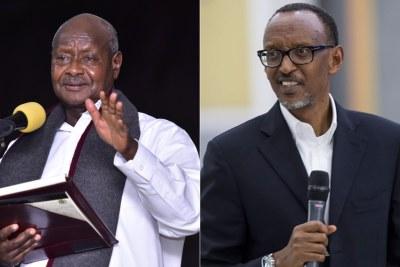 Uganda President Yoweri Museveni and Rwanda's Paul Kagame.
