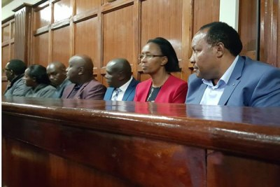 Kiambu Governor Ferdinand Waititu, his wife Susan among other suspects to be charged over a Sh580 million irregular tender at the Milimani Law Courts on July 29, 2019.
