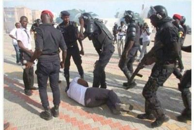 Arrestation de l'activiste Guy Marius Sagna lors d'une manifestation à Dakar