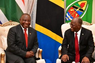 President Cyril Ramaphosa and Tanzania's John Magufuli.