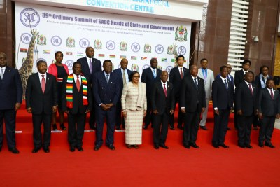 SADC leaders at the the 39th SADC Summit in Tanzania.