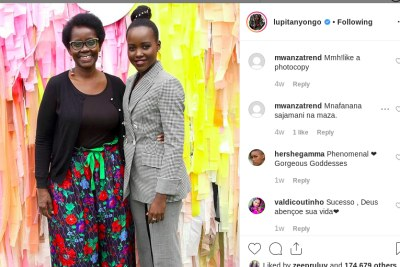 Lupita Nyong'o and her mother Dorothy Nyong'o (file photo).