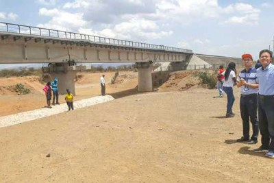 The newly built Standard Gauge Railway line that passes through Maai Mahiu to the Suswa station.