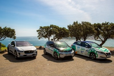 Cars used in the 2019 Electric Vehicle Road Trip.