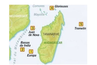 Carte des Iles éparses de Madagascar