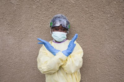 An Ebola fighter in DR Congo.