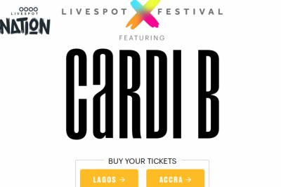 Screenshot of Cardi's B show at Livespot X Festival