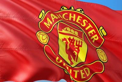 Manchester United flag.