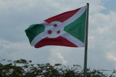 The flag of Burundi.