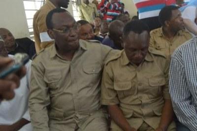 (Photo archive)Un tribunal de Dar es-Salaam a déclaré le président de Chadema, Freeman Mbowe, et huit autres coaccusés coupables de complot en vue de commettre des infractions, de rassemblement illégal, d'émeute après proclamation, de mécontentement et de malveillance à des fins illégales, de sédition et d'incitation à la commission d'infractions