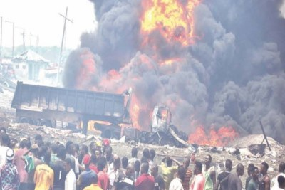 At least 17 people died and scores of others suffered varying degrees of injuries in an explosion in Lagos on March 15, 2020.