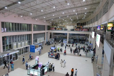 Murtala Muhammed International Airport, Lagos, Nigeria in 2019.