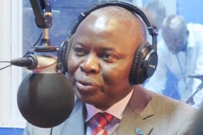 Vital Kamerhe Lwa-Kanyiginyi N'kingi, président de l'UNC intervenant au cours de l'émission Parole aux auditeurs de Radio Okapi à Kinshasa, le 15/08/2018.