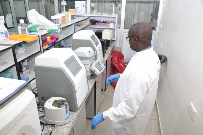 Researchers at the African Center of Excellence for Genomics of Infectious Diseases in Nigeria (file photo).