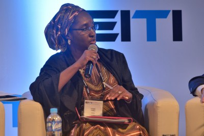 Minister of Budget & National Planning of Nigeria Zainab Ahmed during the 7th EITI Global Conference in Lima, Peru in 2016.