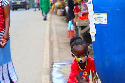 COVID-19 protection measures have been put in place at an informal settlement in Nairobi, Kenya.