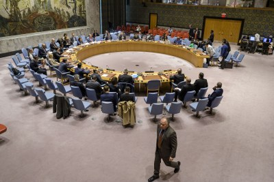 The UN Security Council meeting on Libya in November 2019. But it has been largely silent on Libya for several months.