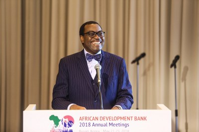 African Development Bank (AfDB) president Akinwumi Adesina addressing the 53rd Annual Meetings of the AfDB held in Busan, Korea.