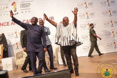 Incumbents win nomination by the ruling New Patriotic Party -  Vice President Mahamudu Bawumia (left and President Nana Addo Dankwa Akufo-Addo.