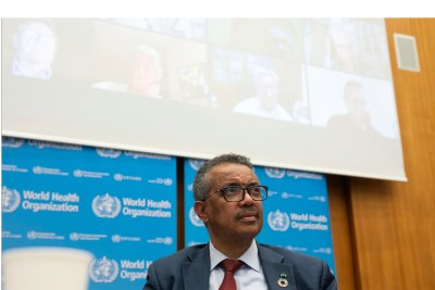 Director-General of the World Health Organization, Tedros Adhanom.