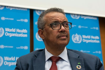 Director-General of the World Health Organization, Dr Tedros Adhanom.
