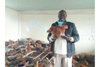 Joseph Maina converted his school into a chicken farm after the government directed that all schools be closed following the Covid-19 outbreak.