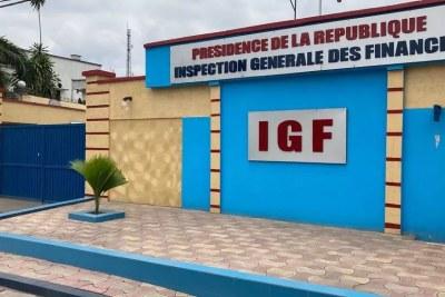 Les bureaux de l'inspection générale des finances à Kinshasa, RDC, en octobre 2020.