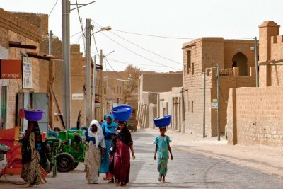 Women walk on the street in Timbuktu, Mali (file image).