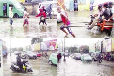 Presque toutes les rues des zones basse ont été touchées par la montée des eaux.