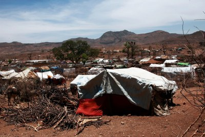 Intercommunal violence in Darfur has left millions in need of assistance. Pictured here, an IDP settlement in Sortoni (file photo).