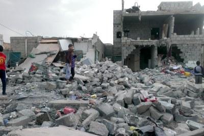 Yemeni capital Sanaa after airstrikes (file photo).