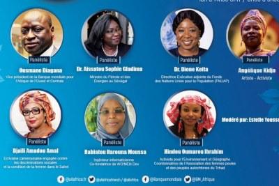 Affiche panel « La COVID-19,  Révélateur de l'Incroyable Résilience des Femmes Africaines »