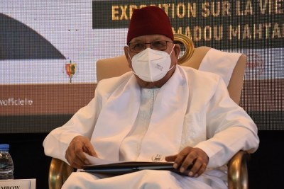 Pr Amadou Mahtar Mbow, ancien Directeur général de l'UNESCO, lors de la célébration de l'anniversaire de son centenaire