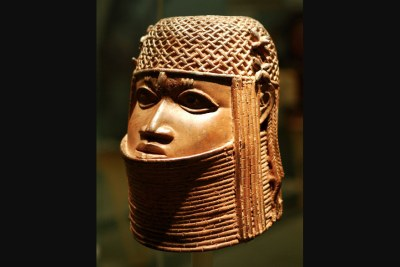 Ancestral head of an oba (a king), part of an exhibition on empire and museum collections (file photo).