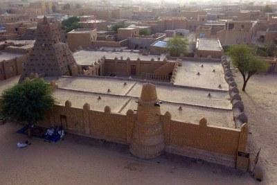 Vue aérienne sur la ville de Tombouctou, dans le nord du Mali.