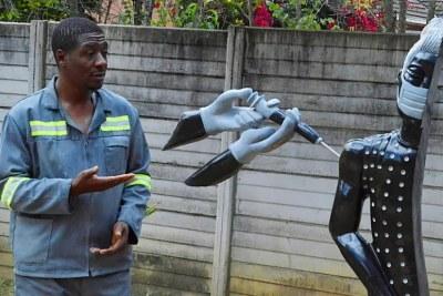David Ngwerume's sculpture