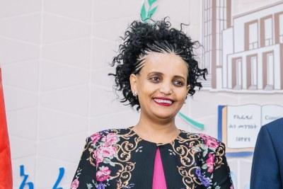 Birtukan Mideksa, chair of the National Election Board of Ethiopia, in 2018.