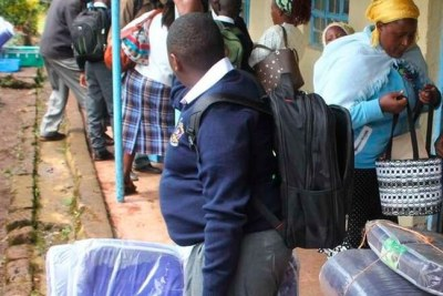 Students going back to school (file photo).