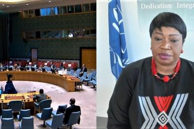 La procureure de la CPI, Fatou Bensouda, présente le 33e rapport de son bureau sur la situation au Darfour, au Soudan, au Conseil de sécurité de l'ONU à distance via VTC ©ICC-CPI
