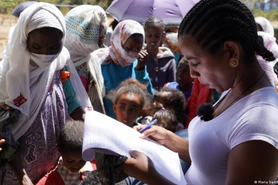 The UN and human rights groups have warned seven months of fighting has hampered food security in Tigray with a real risk of famine.